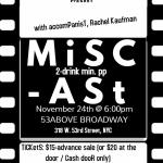 "The Benati Group and 54 Main Casting. present."" Miscast """
